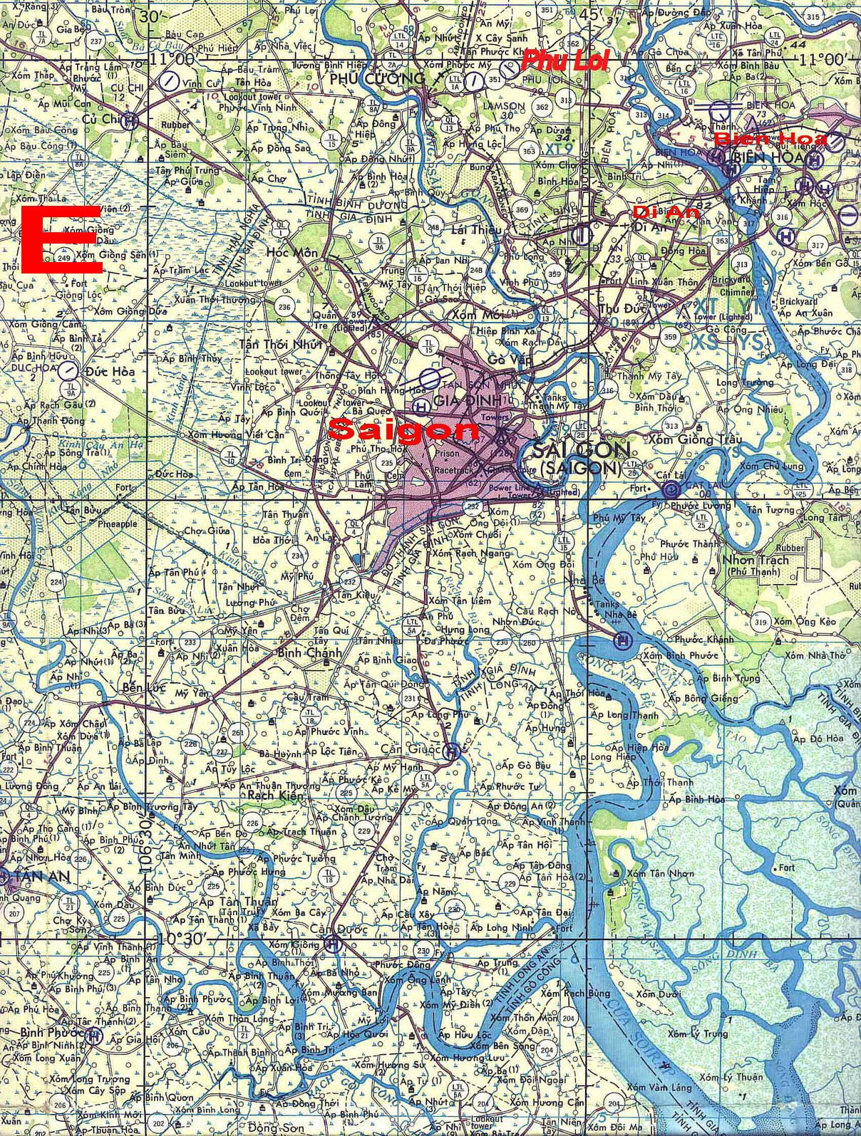 Phu Loi S Location Marked In Red North East Of Saigon