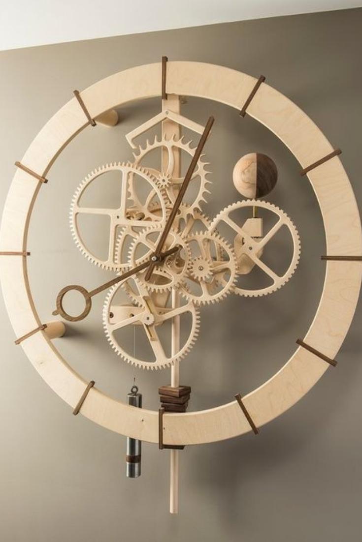 Luxury Design Wall Clock Wooden Clock Plans Clock Wall Art