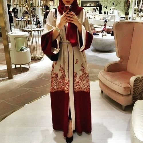 Photo of Samrah Fashion Beautiful Abaya Maroon #abayastyle #modestfashion #abayafashion #…