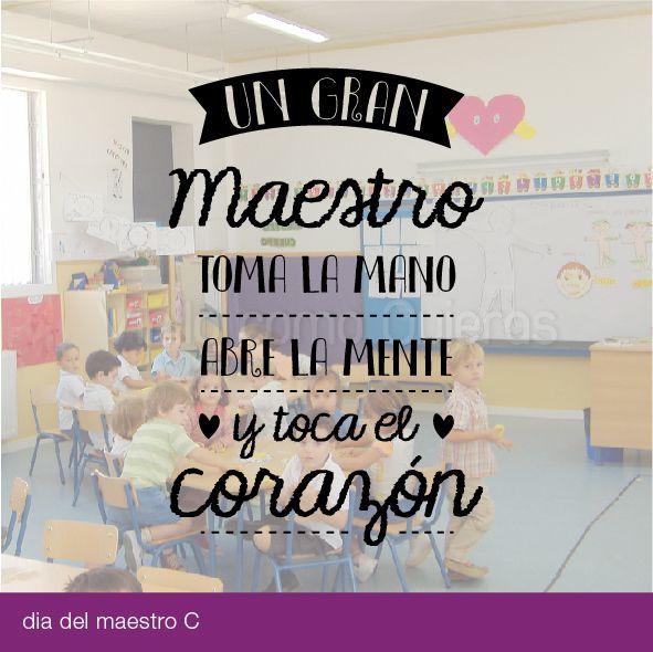 Resultado de imagen de frase dia maestro | Ideas de ...