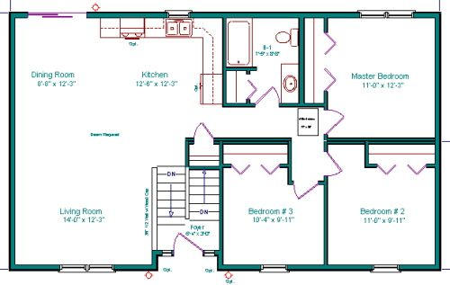 Split Entry Split Foyer Bi Level Raised Rambler Raised Ranch ... on 2 bedroom cottage house plans, 2 bedroom log house plans, 2 bedroom colonial house plans, 2 bedroom a frame house plans,