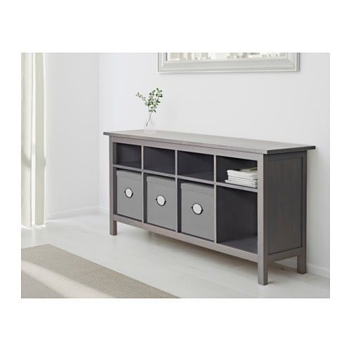 HEMNES Console table, dark gray gray stained in 2018 For the Home