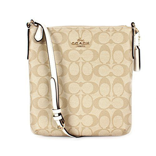 129 Coach Signature N S Crossbody Light Khaki Chalk