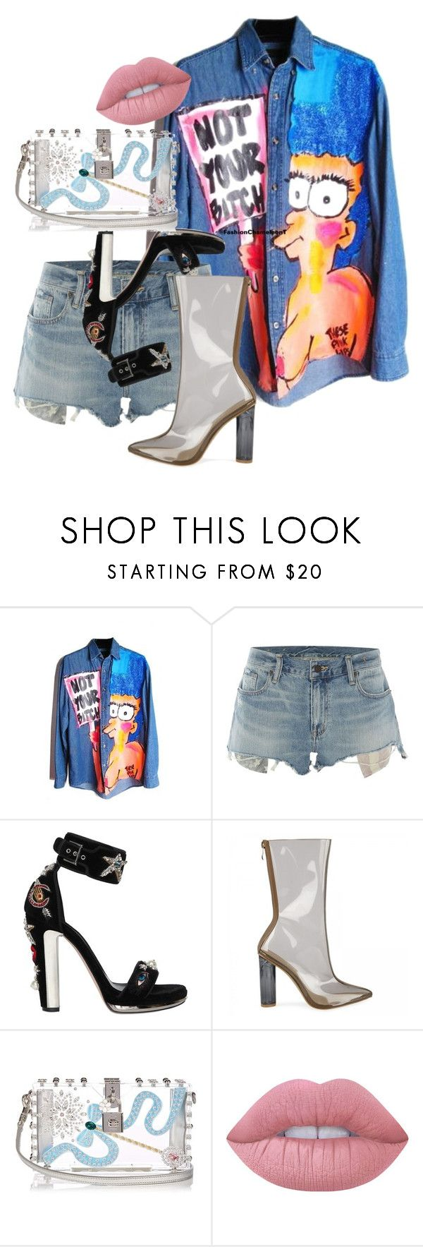"""PATRICIA FIELD"" by fashiionchameleont on Polyvore featuring Denim & Supply by Ralph Lauren, Alexander McQueen, Dolce&Gabbana and Lime Crime"