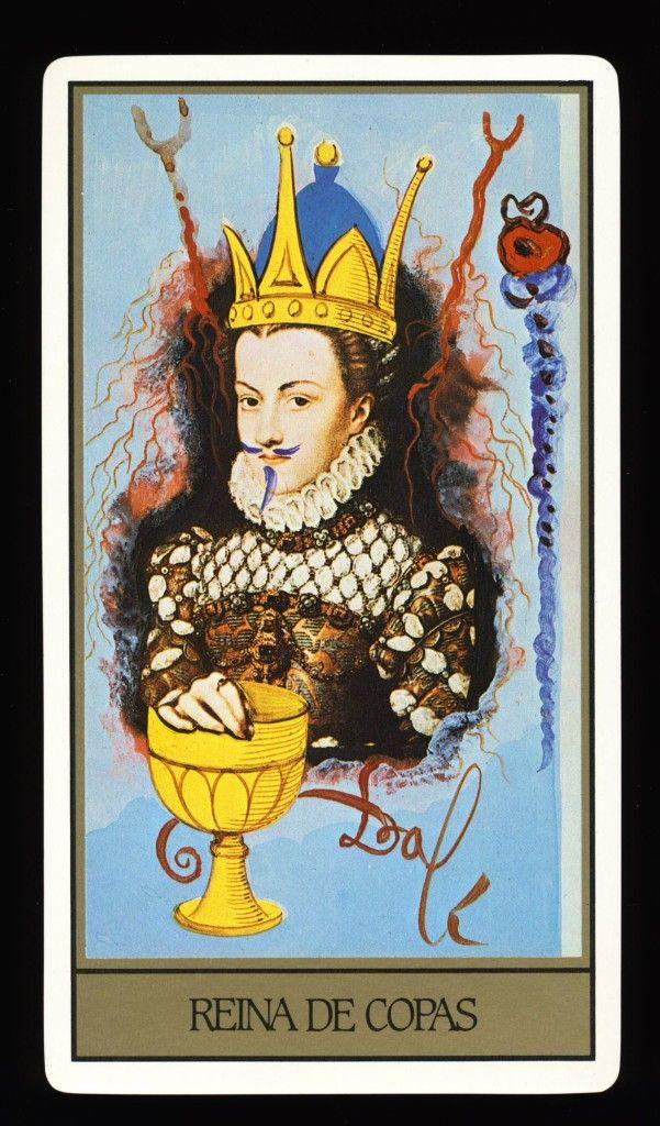 salvador dali tarot deck - regina de cupa