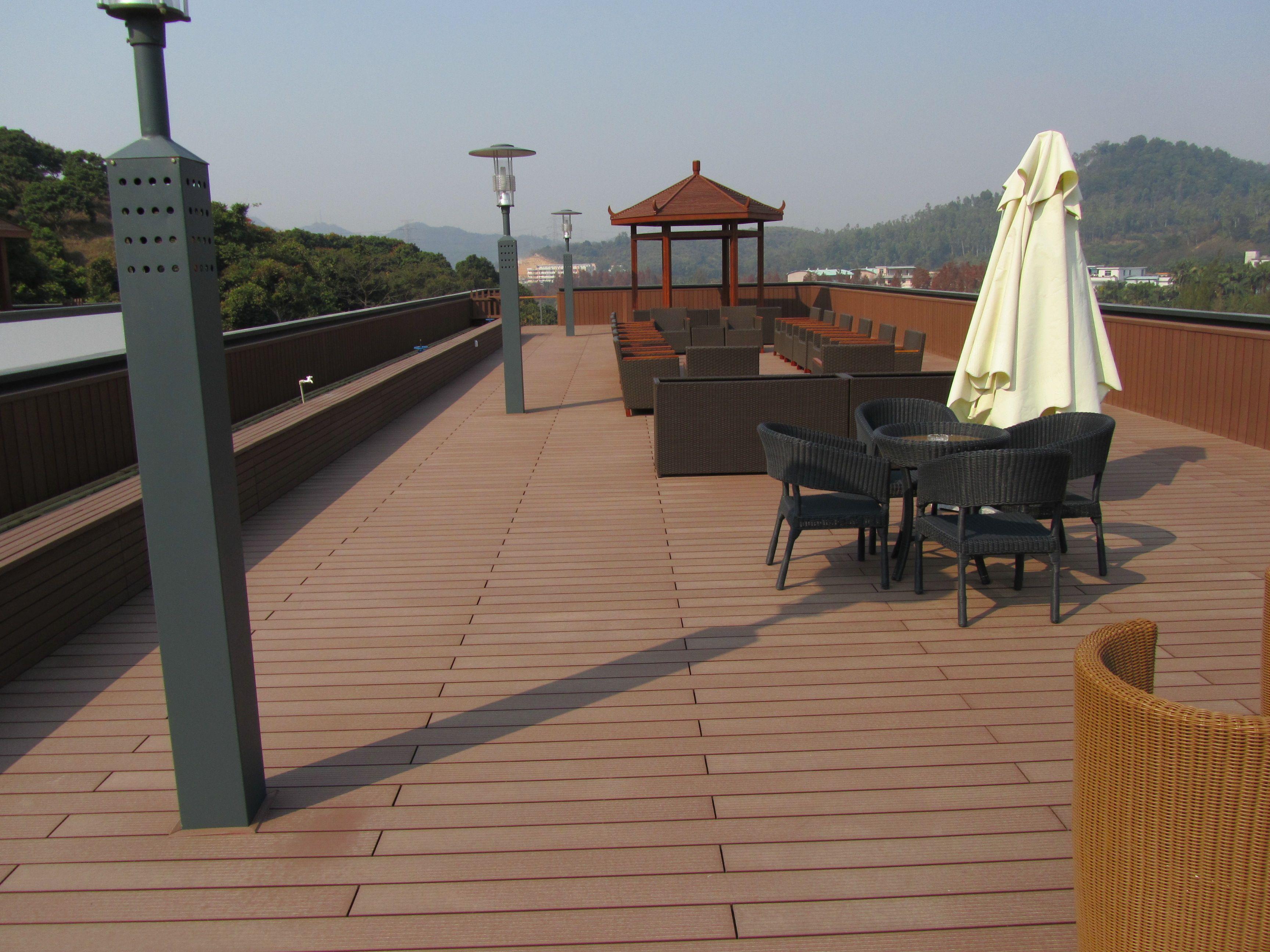 wood plastic posite decking outdoor white deck boards in Qatar