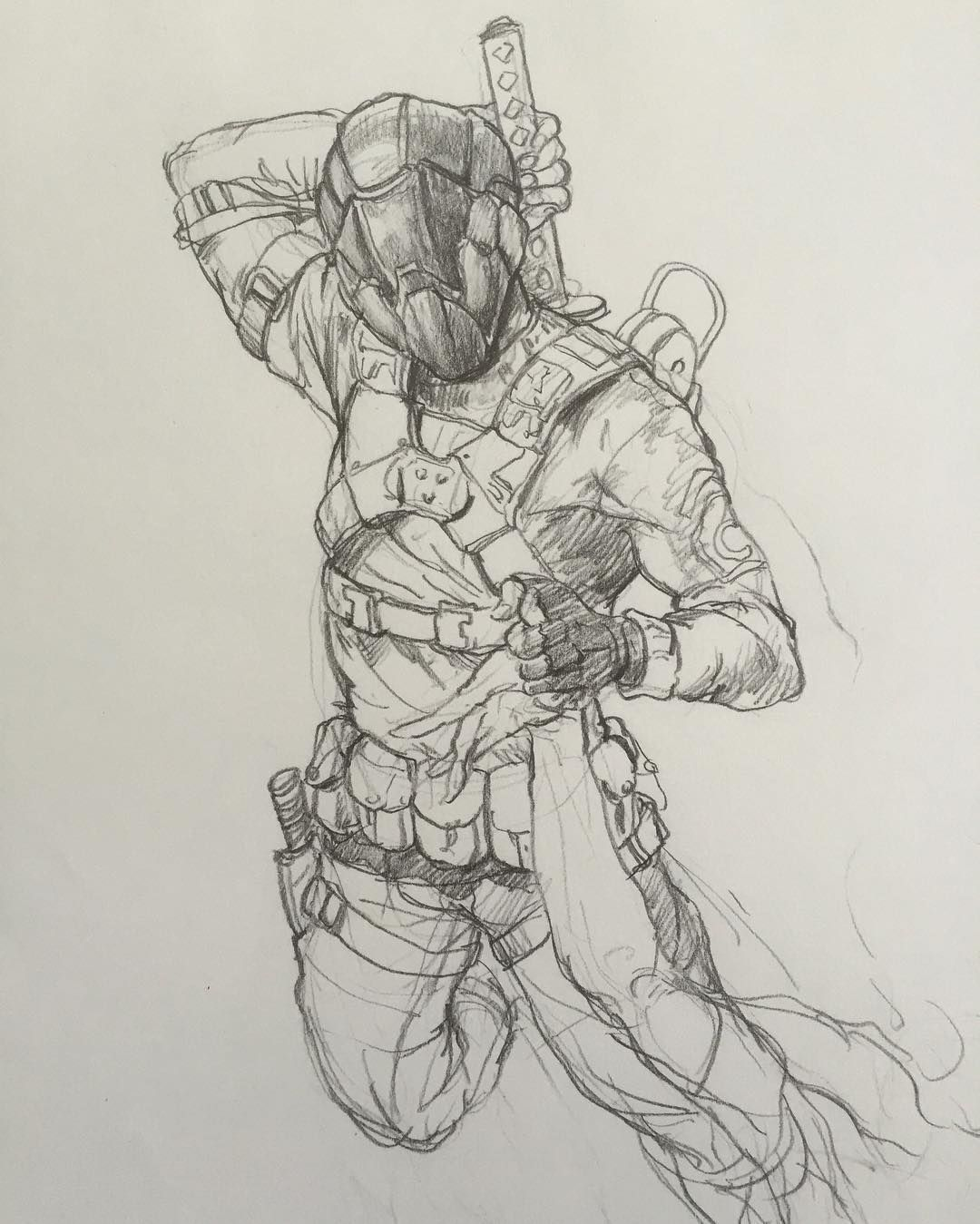Sketchbook sketch sketching ninja samurai warrior doodle drawing pencildrawing pencil fighter powerrangers