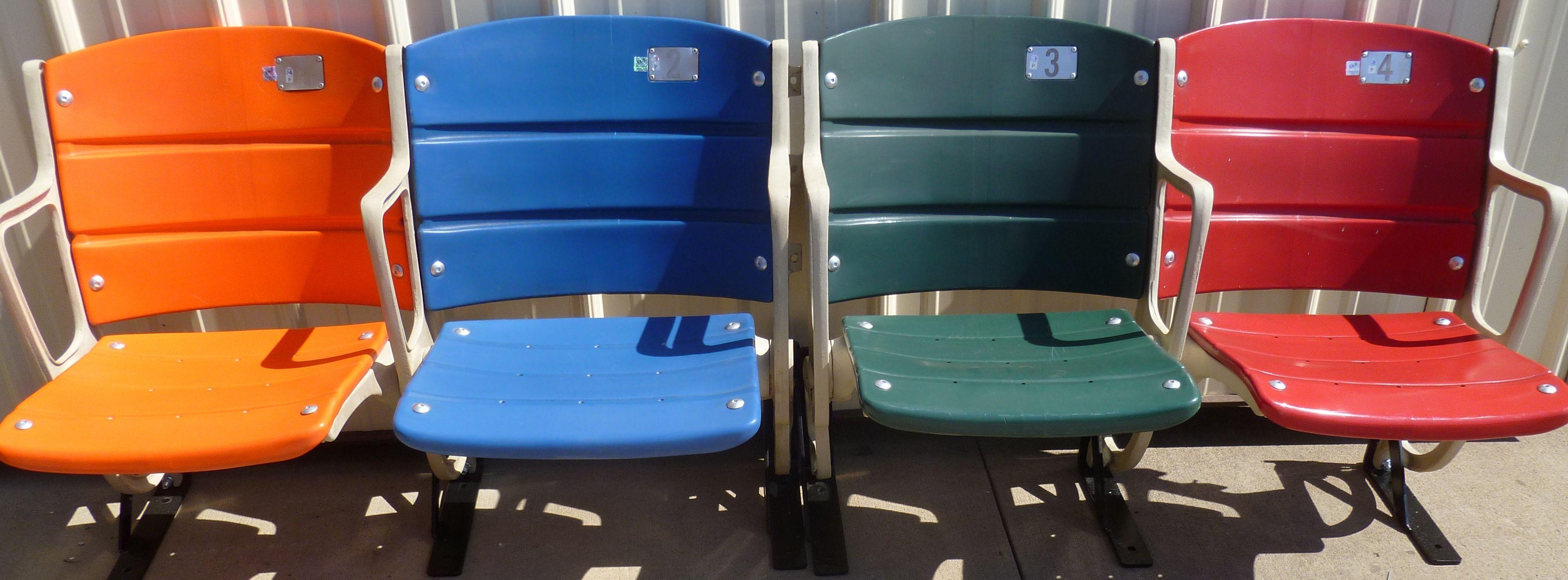 Shea Stadium seats all the seat colors from Shea Stadium