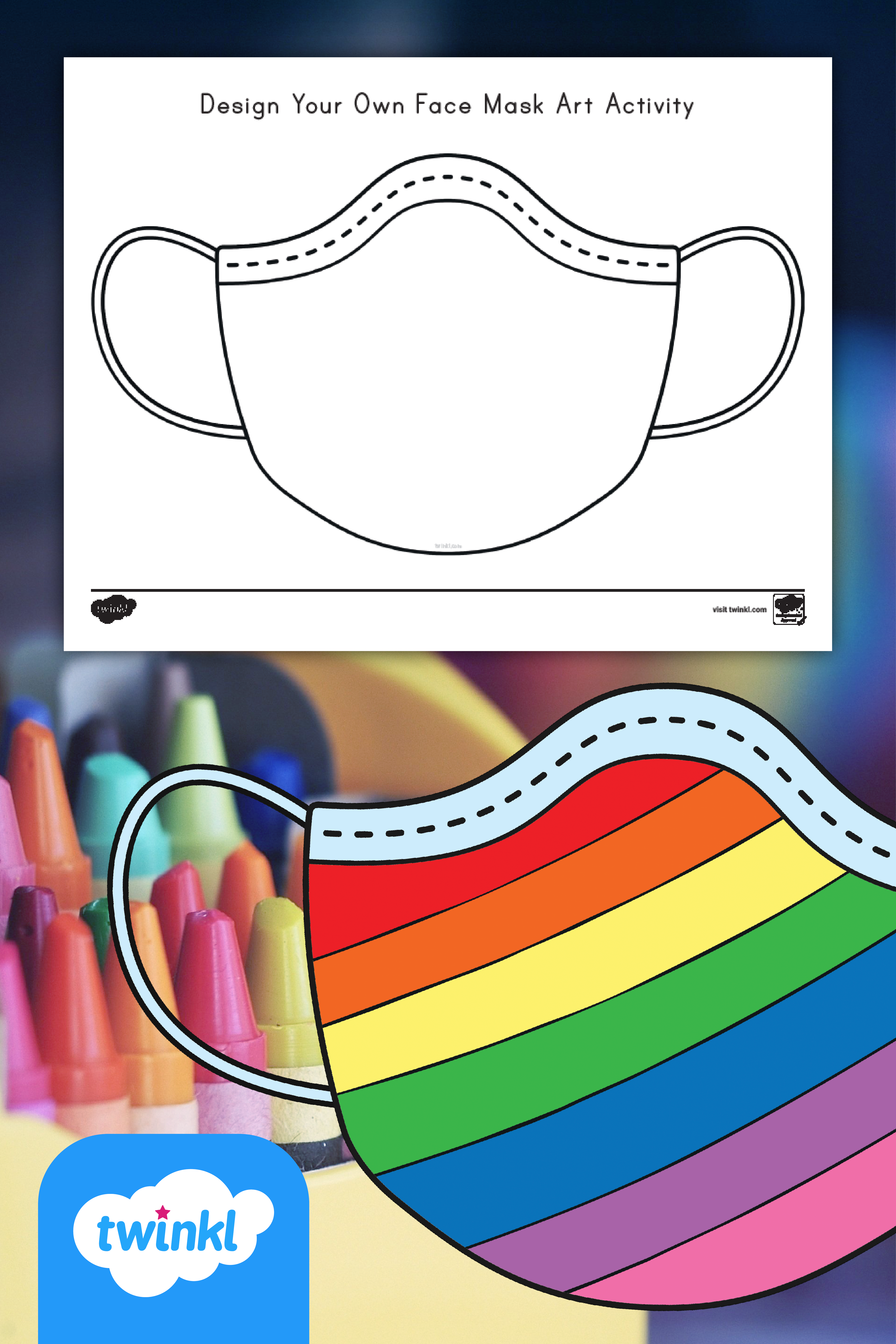 Design Your Own Face Mask Art Activity