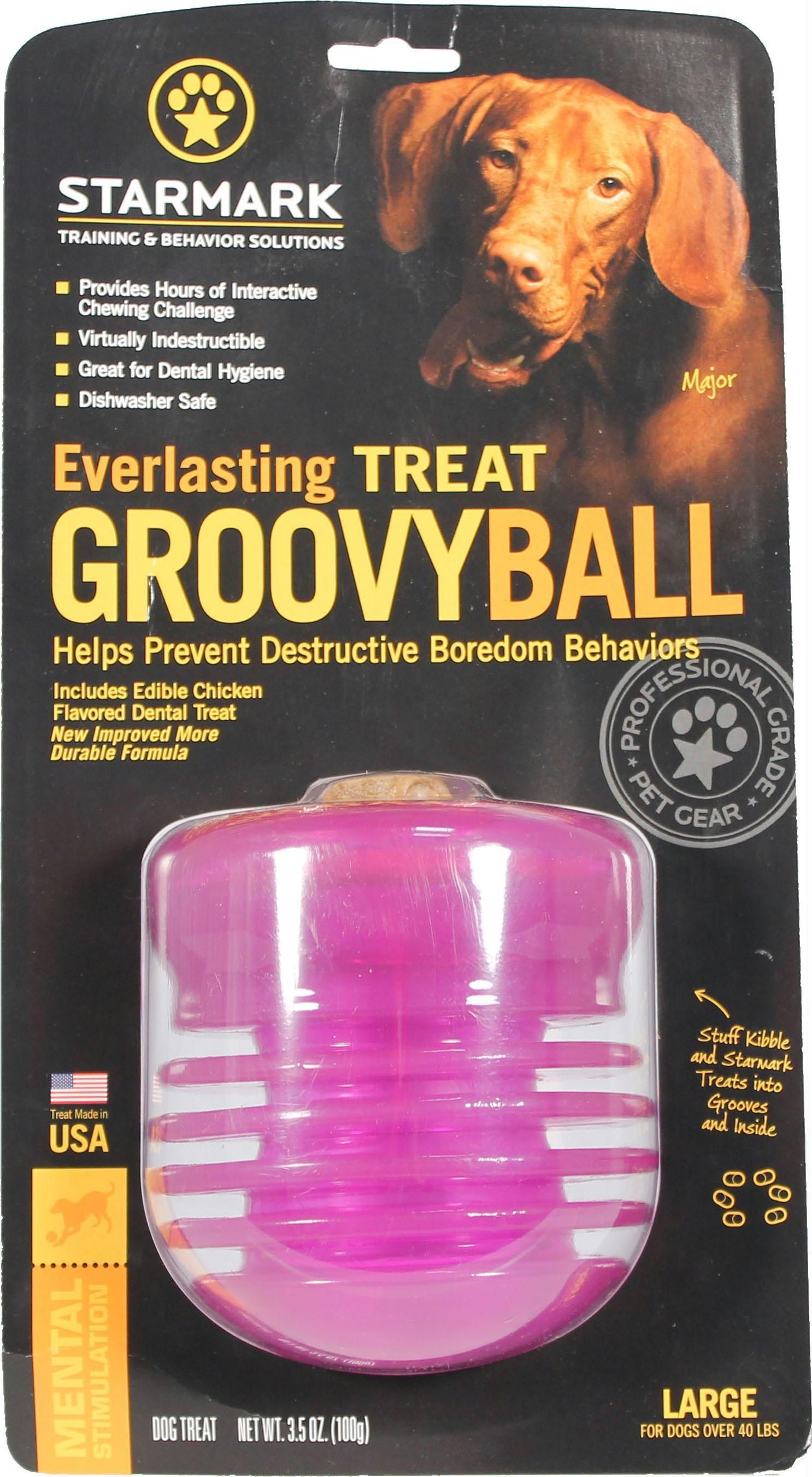 Everlasting Groovy Ball With Usa Treat Dog Toys Pets Dog Toy Ball