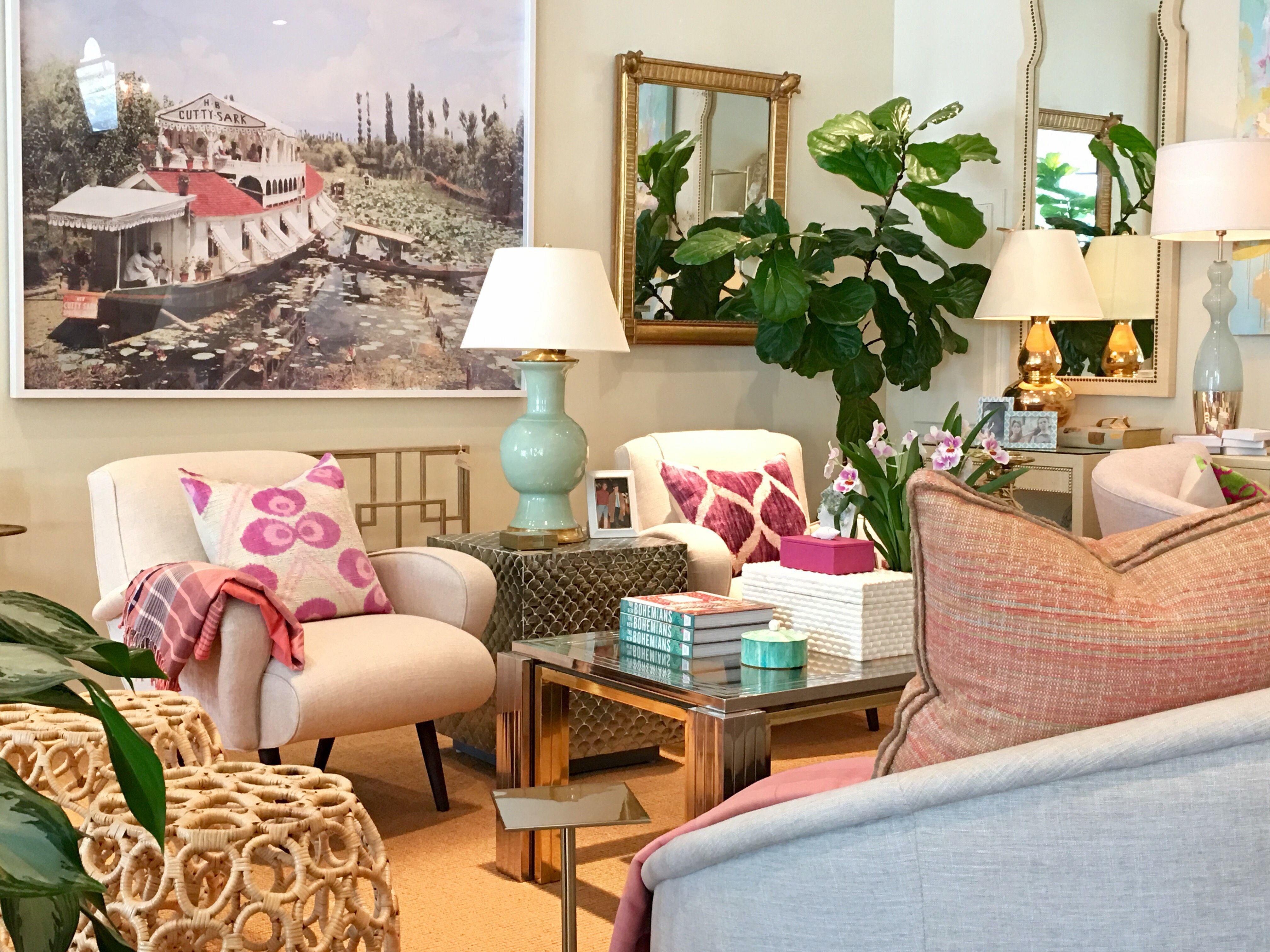 Mint and magenta spring hues at Mecox Dallas #interiordesign #home #decor #design