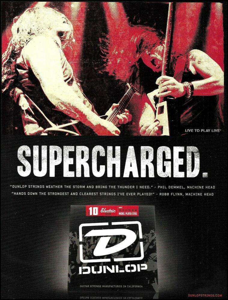 Details About Machine Head Robb Flynn Phil Demmel Dunlop Guitar Strings Advertisement Print In 2020 Guitar Strings Electric Guitar Strings Epiphone Acoustic Guitar