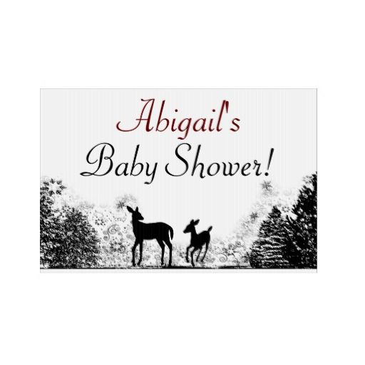 winter personalized baby shower yard sign