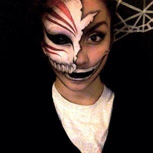 Bleach Ichigo Hollow Makeup Instagram Ellie35x Makeup Bleach Ichigo Hollow Face Painting Easy