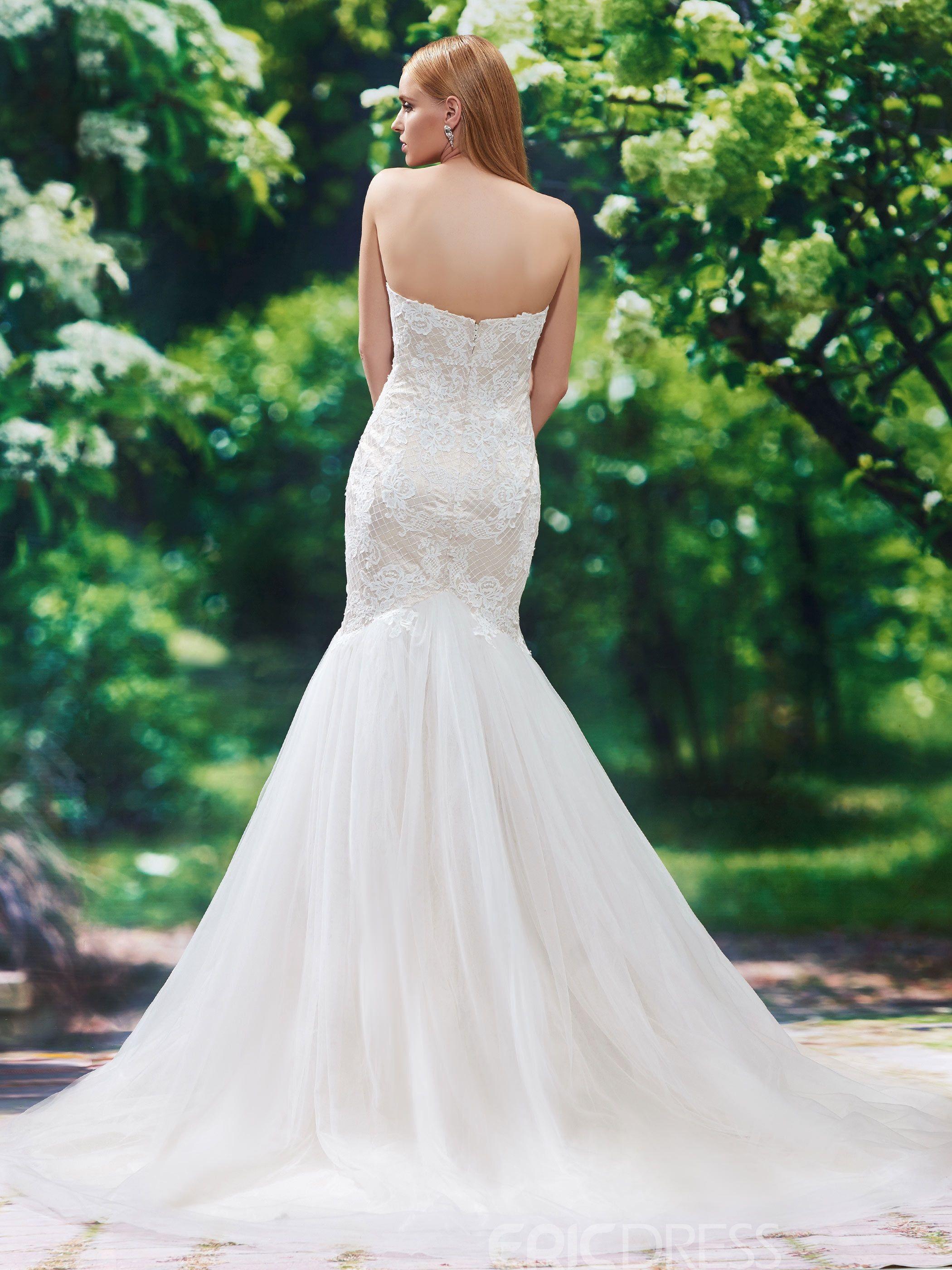 34+ Sweetheart mermaid wedding dresses applique ideas