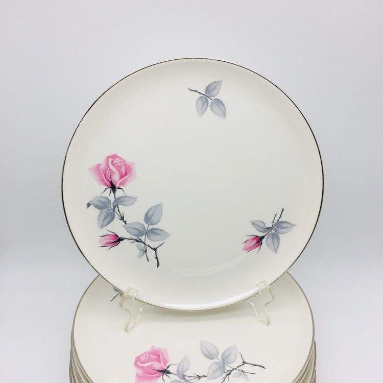 "Syracuse China ""Bridal Rose"" Dinner Plates, Set Of 6 Pink"