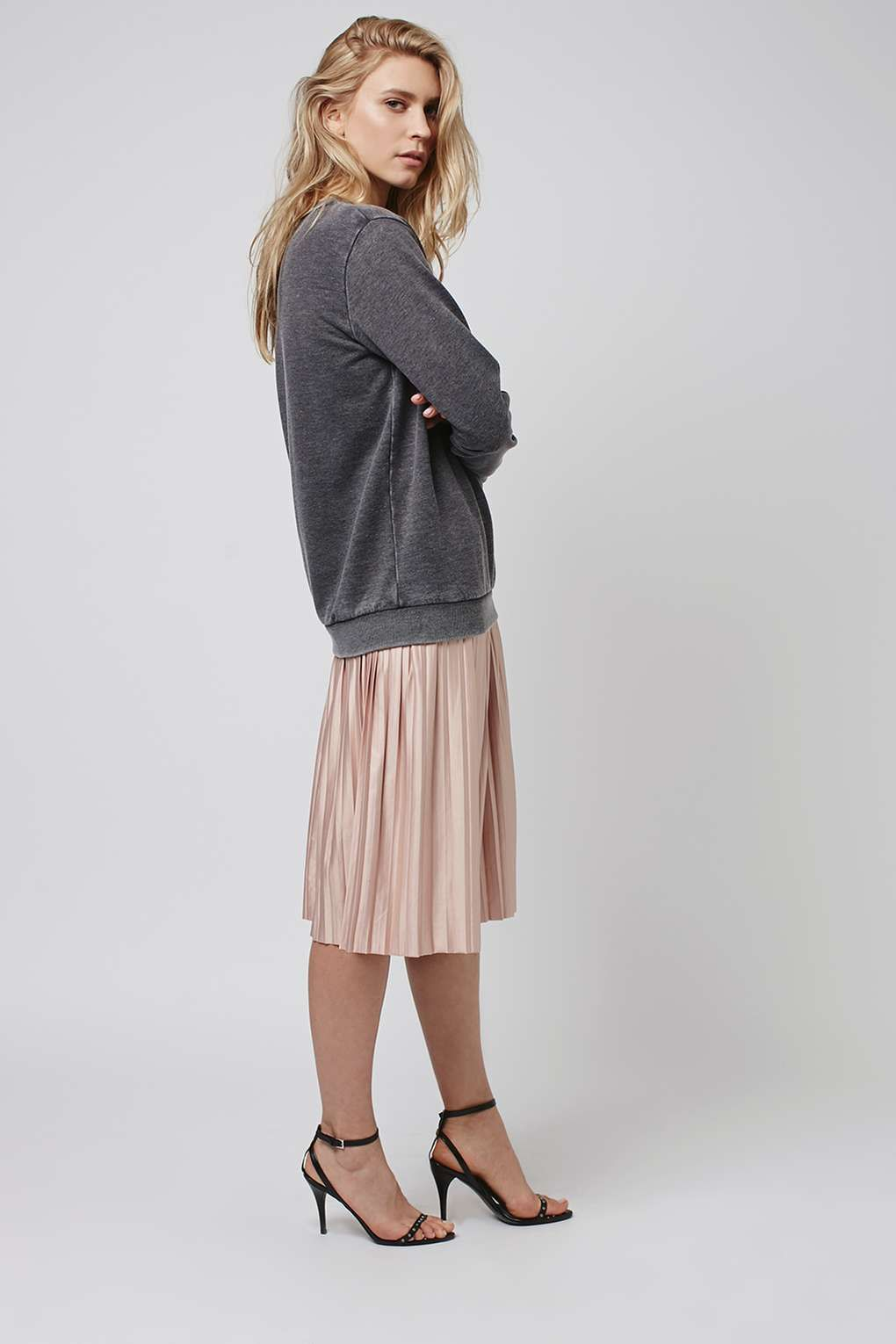 PETITE Jersey Pleat Midi Skirt | Products, Topshop and Skirts