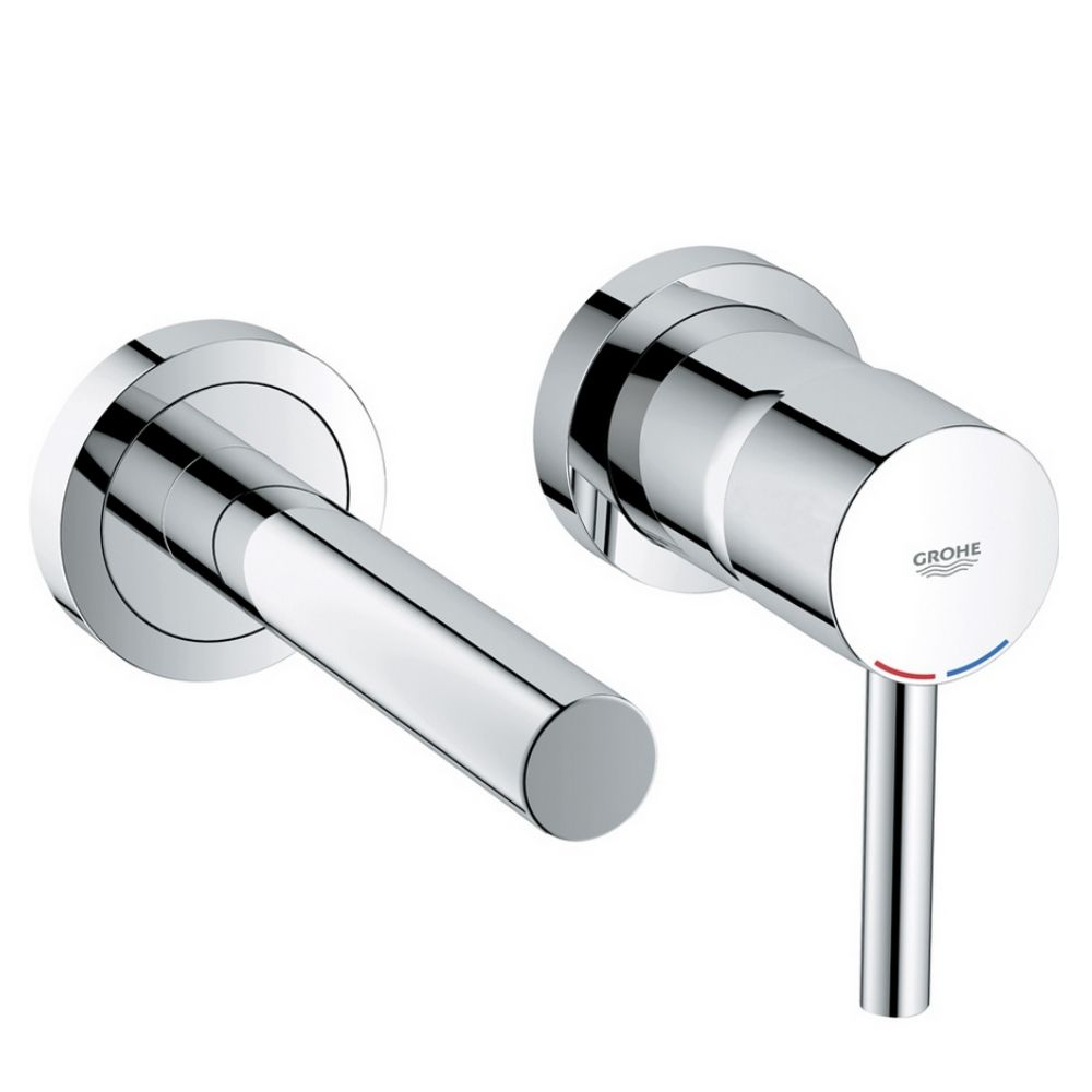Grohe Essence Wall Mounted 2 Hole Basin Mixer Tap | Bathroom Taps ...