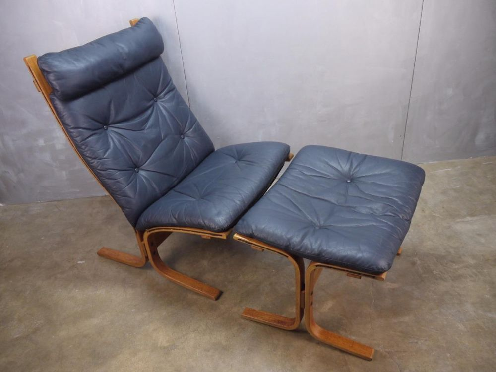 Danish Modern Bentwood Siesta Teak Westnofa Leather Chair Otto Relling Norway