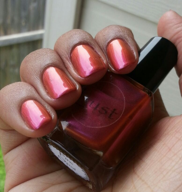 Fire Opal by Lust Nail Lacquer  Photo credit on photo from Instagram.