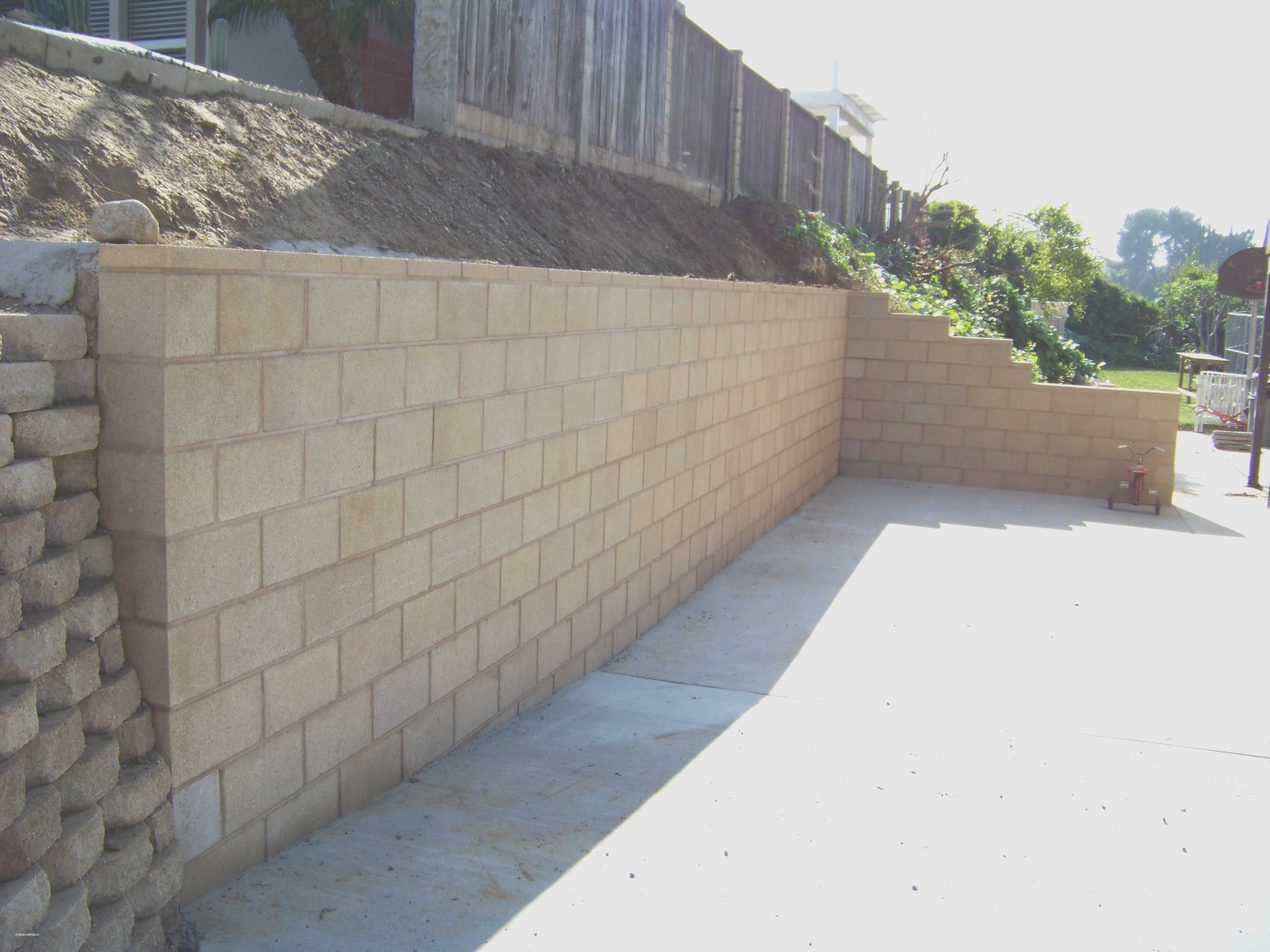 Modern Concrete Block Retaining Wall Home Act Concrete Retaining