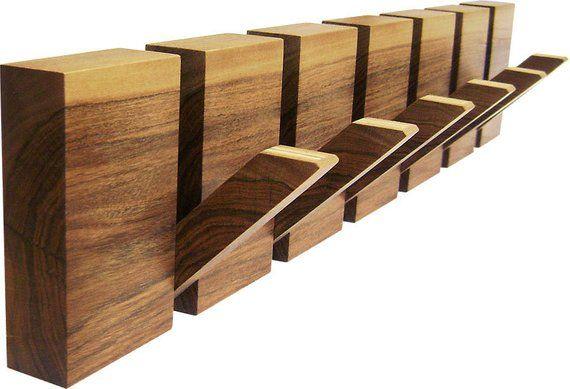 Verkleiden Sie Die Wände Ihrer: Wooden Coat Rack, 6 Hooks. Originally Designed And Made By