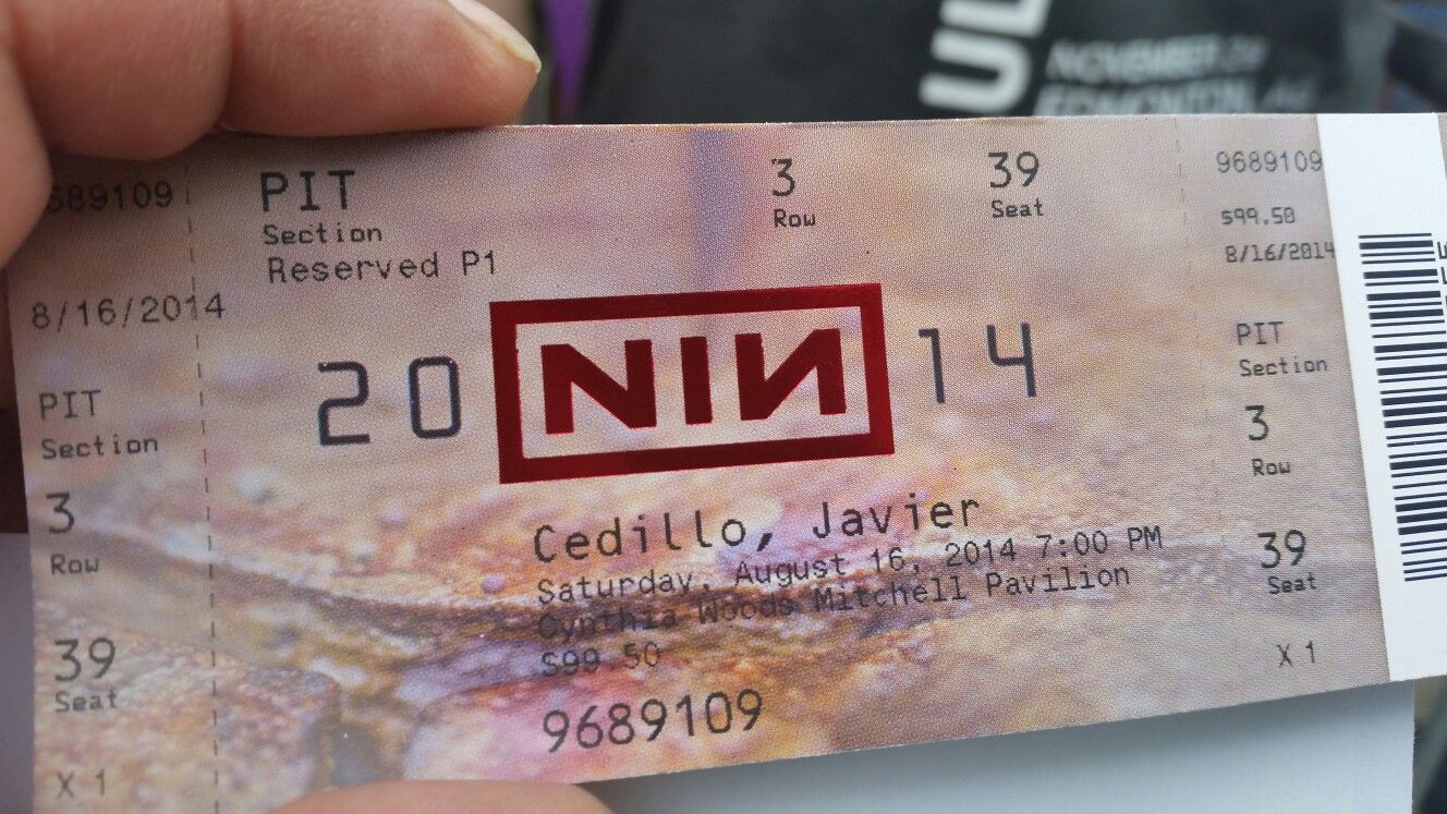 Nine inch nails ticket | living room | Pinterest | Living rooms and Room