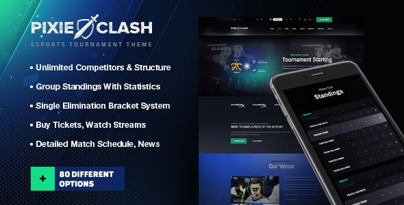 PixieClash   eSports gaming theme for tournaments & competitions ...