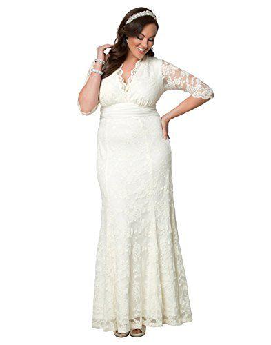 ce722a1c3759 Kiyonna Women s Plus Size Amour Lace Wedding Gown