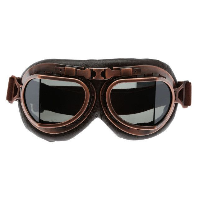 2b7f66ed96 Motorcycle Goggles Glasses Vintage Motocross Classic Goggles Retro Aviator  Pilot Cruiser Steampunk ATV Bike UV Protection Copper