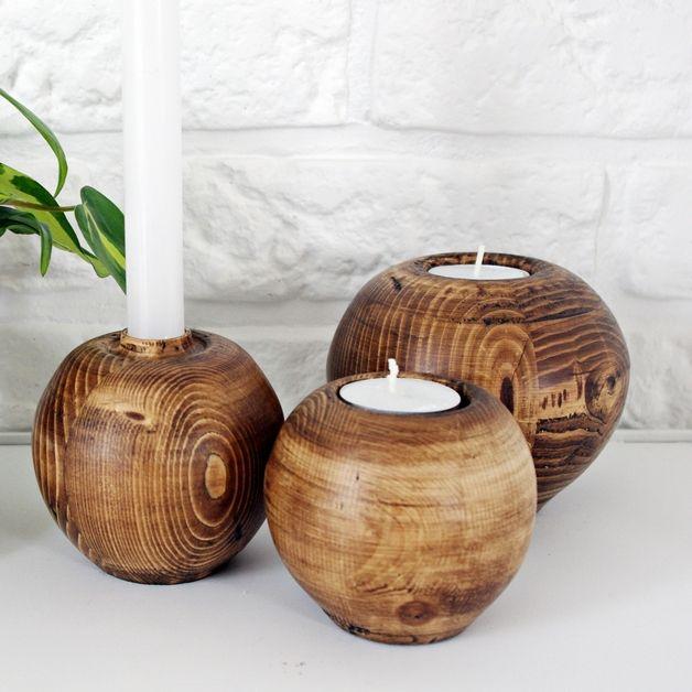 Photo of Kerzenständer – Komplet świeczników ÄPPLE – gravi SCRAPWOOD – ein Designerst …