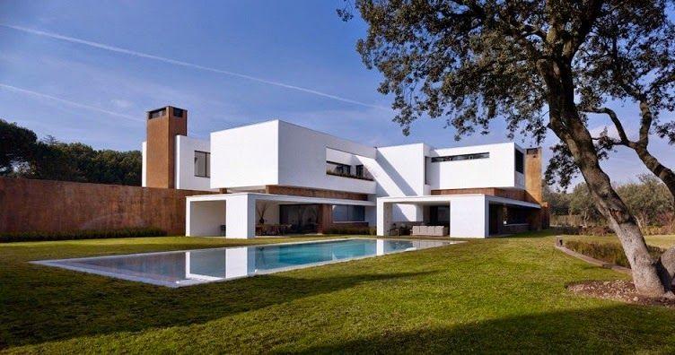 Arquitectura casa moderna minimalista la moraleja madrid - Casas minimalistas en espana ...