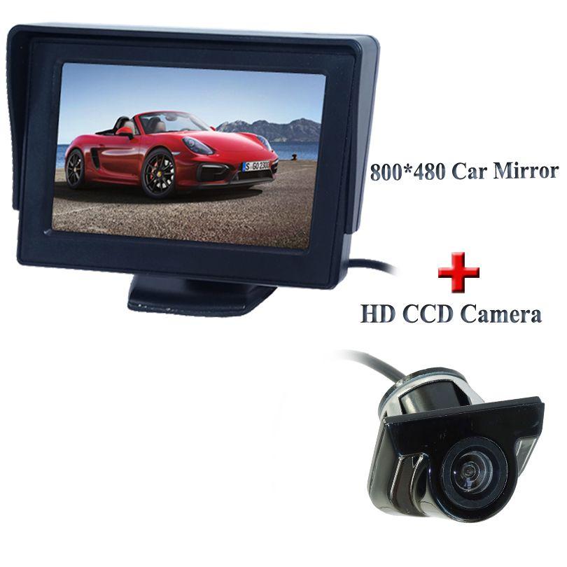 """Car Rear View Kit 4.3/"""" TFT LCD Monitor HD IR Night Vision Reversing Camera 170°"""