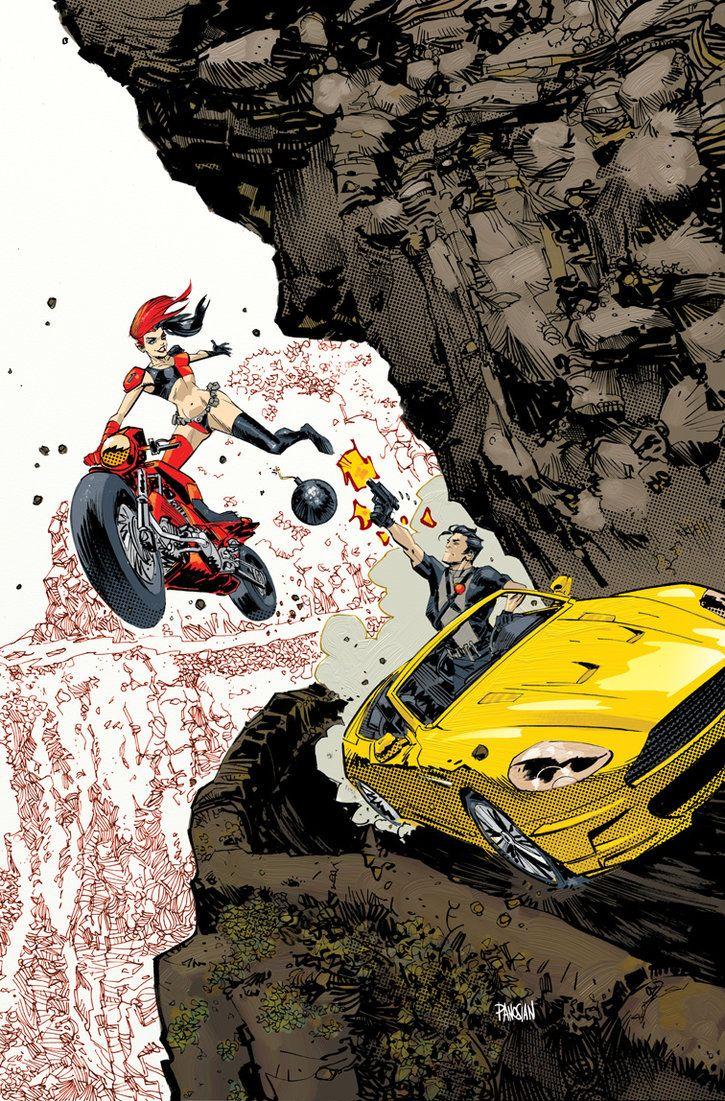 Harley Quinn and Grayson! by urban-barbarian
