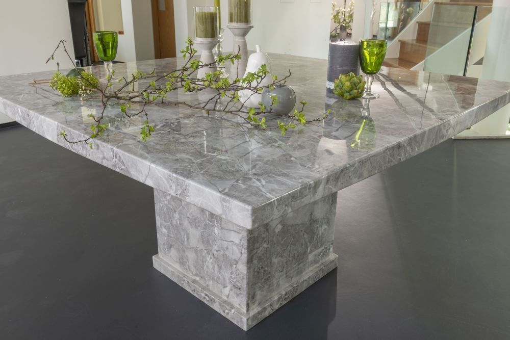 Turin Grey Marble Square Dining Table 140cm Dining Table Square Dining Tables Marble Square