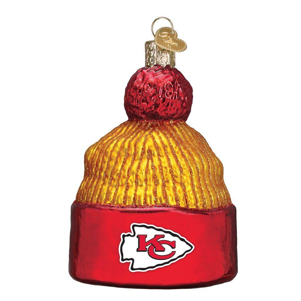 41ff6b291 Kansas City Chiefs Hand Blown Glass Beanie Ornament