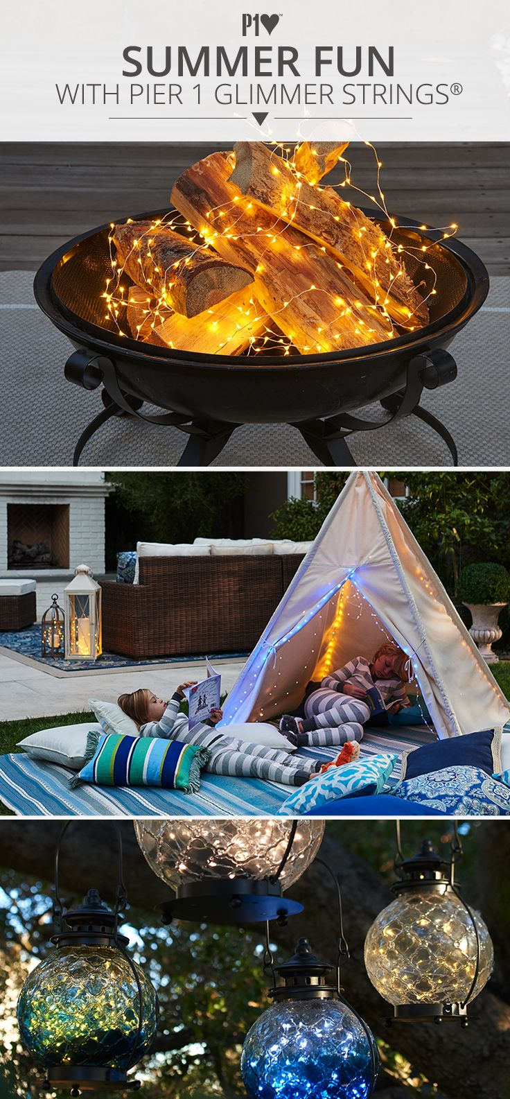 Whether you want to enjoy an evening by the fire pit