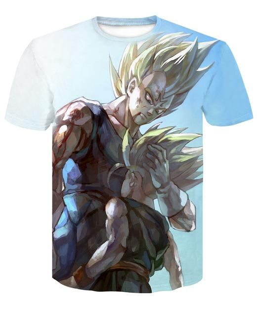 5566b8e968 Men's 3D T-Shirt Dragon Ball Z Ultra Instinct Goku Super Saiyan God Blue  Vegeta Print Summer Tops