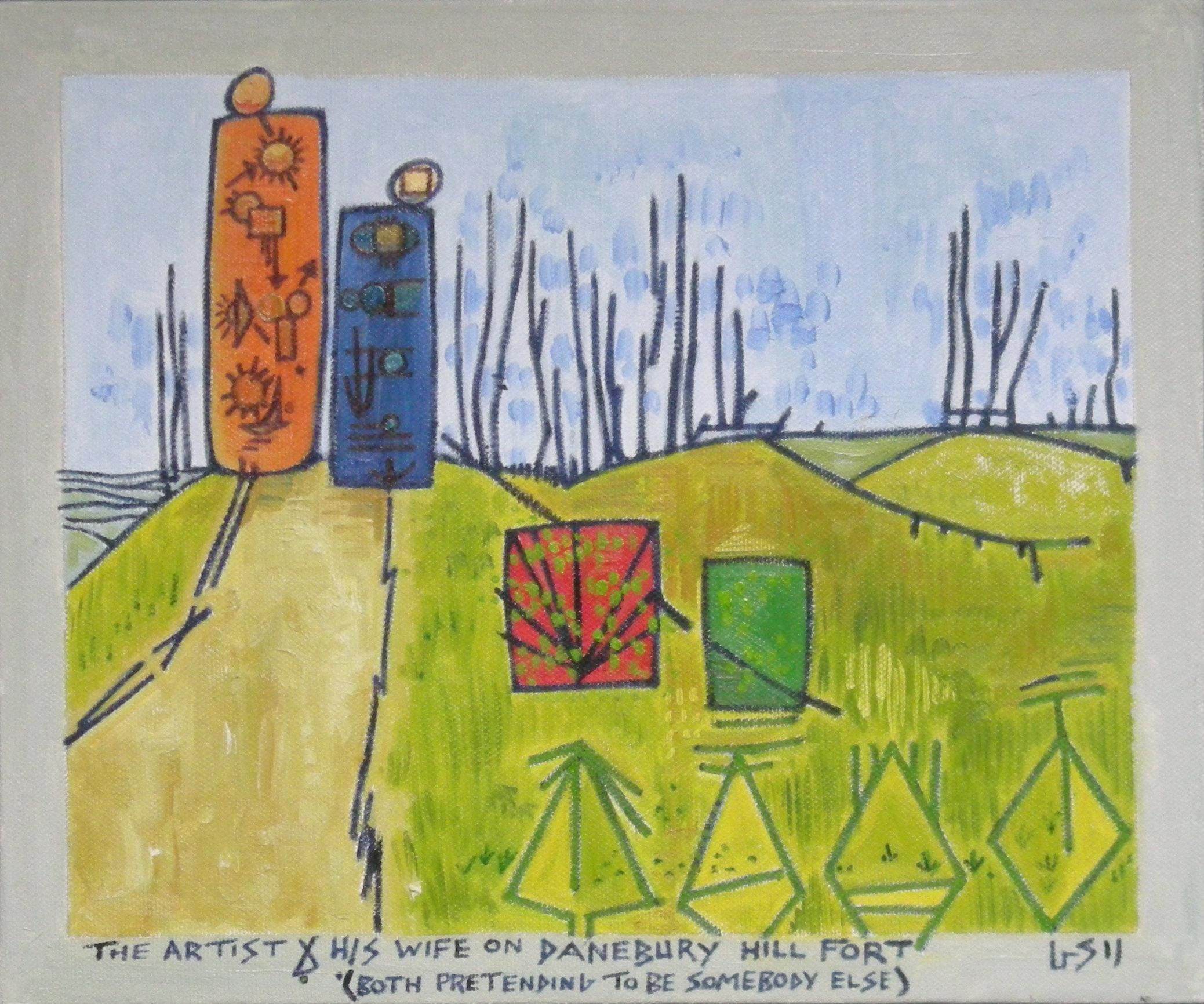 Gerald Shepherd: The Artist And His Wife On Danebury Hill Fort