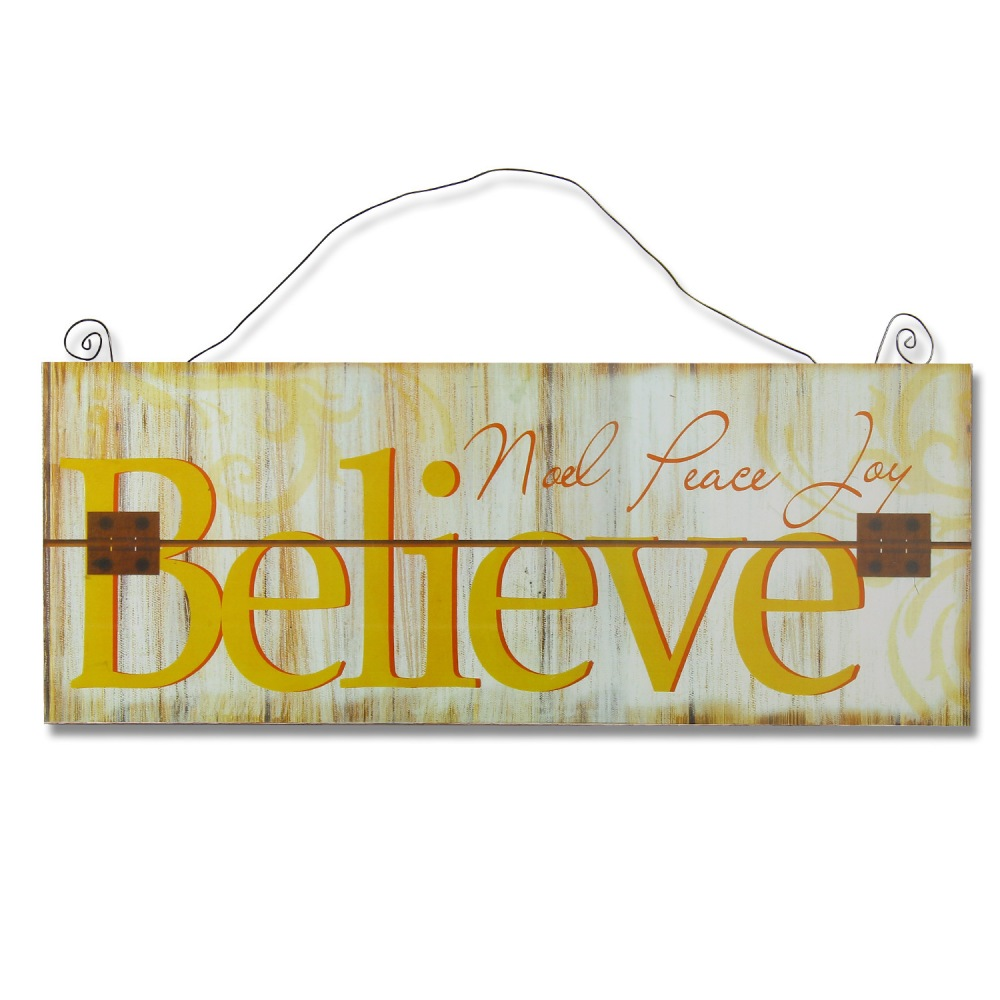 Furnistar Decorative Wood Wall Hanging Sign Plaque \