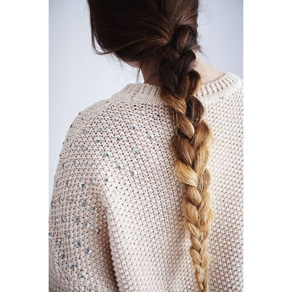 ombre braided hair. ❤ liked on Polyvore featuring hair, hairstyles, pictures, hair styles and cabelos