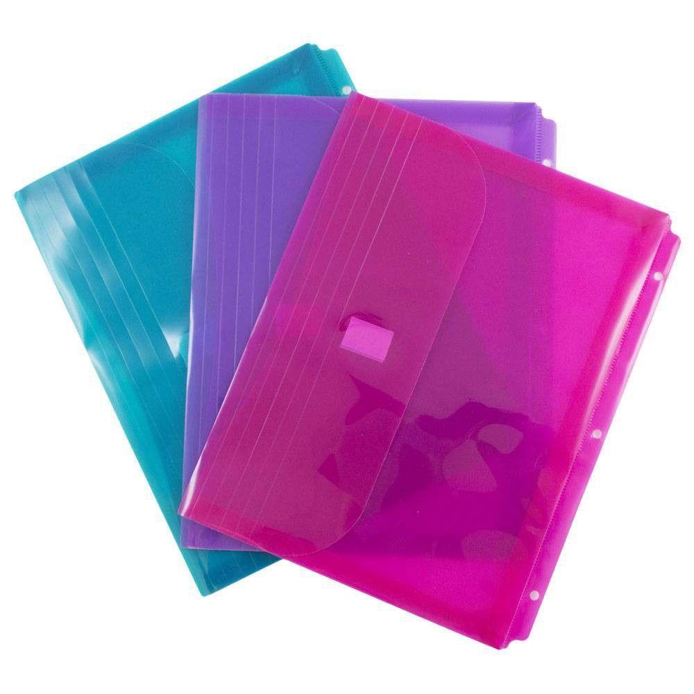 JAM Paper 8 5/8'' X 11 1/2'' 6pk Plastic 3 Hole Punch