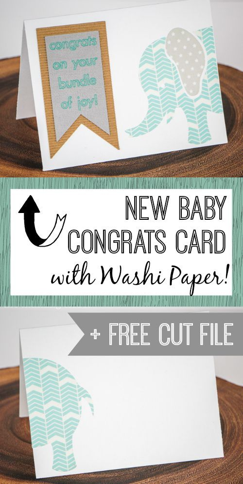 new baby congrats card