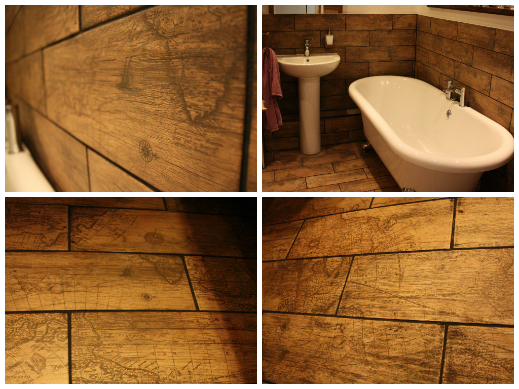 Faux Wood Effect Bathroom Floor And Wall Tiles From Www Wallsandfloors Co Uk It Cost Me 287 For Enough Tile Wood Effect Tiles Walnut Wood Furniture Tiles Uk