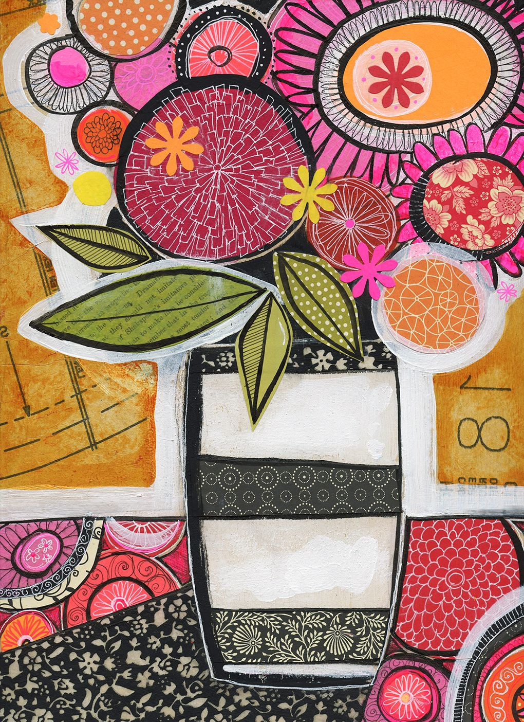 black & white vase No.1 | Susan Black Design