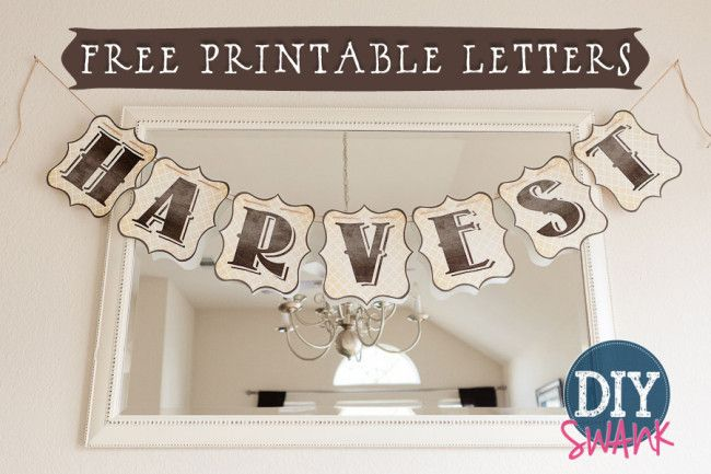 Free Printable LettersDiy Harvest Banner  Printable Letters