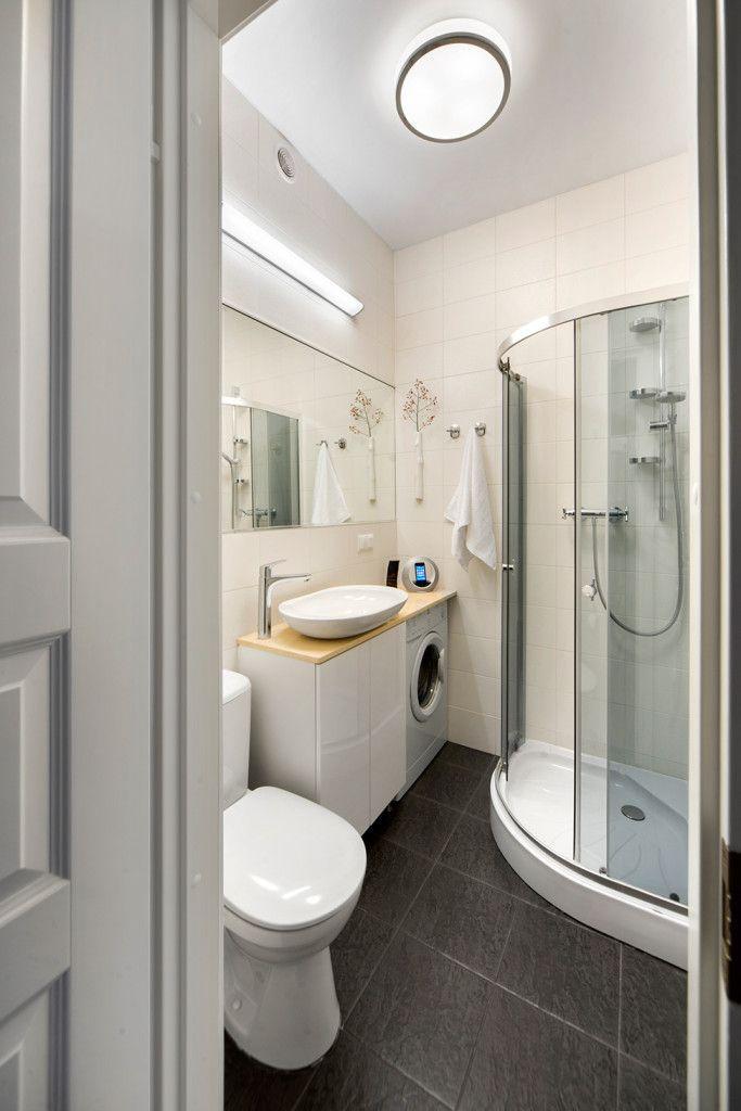 Small Bachelor Pad Idea Designed In A Modern Retro Style Bathroom