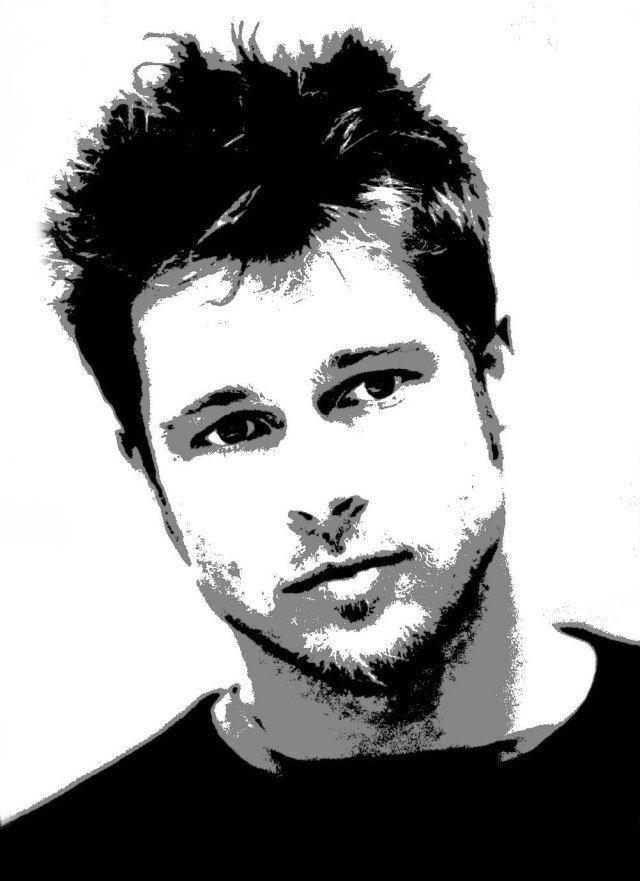 Brad Pitt Stencil Brad Pitt 2 Pinterest Brad Pitt