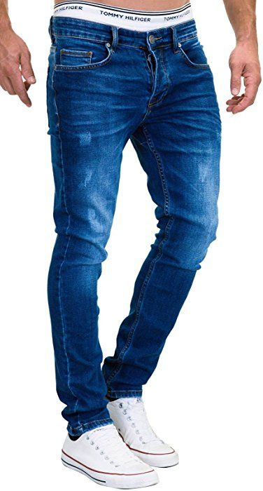 e85e97b26462 MERISH 5-Pocket Denim Jeans Herren Slim Fit Used Design Modell J3014  Dunkelblau 33-34
