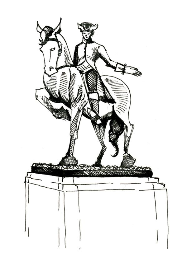 Monument Paul Revere Coloring Page